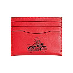 Slim Card Case in Leather featuring Mickey