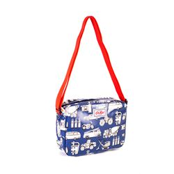 Navy & White Print Lunch Bag