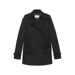 Gucci black Double breasted caban coat