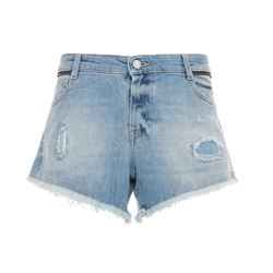 Paly denim shorts