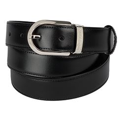 Montblanc - Brown leather belt with silver buckle