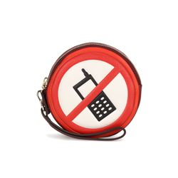 Anya Hindmarch red no mobiles clutch