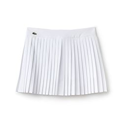 Lacoste White Pleated Tennis Skirt