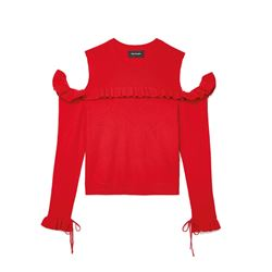 Red Off the Shoulder Jumper