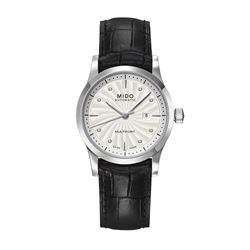 Mido Watch in black by Hour Passion at Wertheim Village