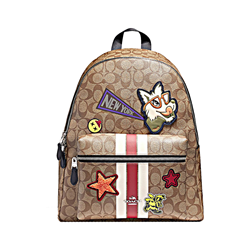 Varsity Patches Logo Charlie Backpack w Stripe