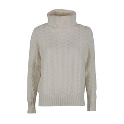 N.Peal Cream cableknit cashmere jumper