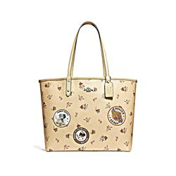 Minnie Signature Logo Patches City Zip Tote