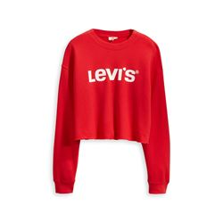 Levi's Women's red Graphic Raw Cut Crew New Logo