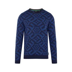 All Over Jacquard Crew Neck