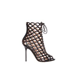 Sergio Rossi  Black cut-out heeled sandals from Bicester Village