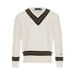 Polo Ralph Lauren Men's Cream Iconic Cricket Sweater