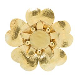 Tous - Gold brooch necklace