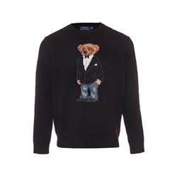 Polo Ralph Lauren Polo black Tuxedo bear sweater from Bicester Village