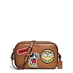 Crossbody Pouch 'Mickey Patches' in saddle by Coach at Ingolstadt Village