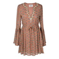 Brown Daisy Dress