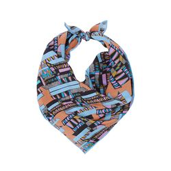 TATE 25 Bella Singleton blue and purple neckerchief from Bicester Village