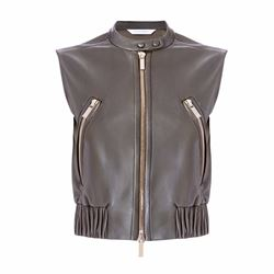 Diane von Furstenberg Buckley leather gilet