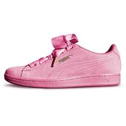 Puma Womens Pink Vikky Ribbon