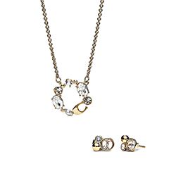 Coach Women's Pendant Necklace and Earring Set
