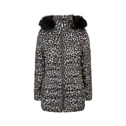 Michael Kors Belted Puffer with Faux Fur Hood