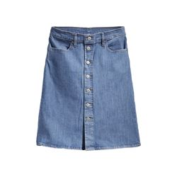 Levi's women's A line midi button skirta