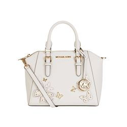 Michael Kors Women's Optic White Ciara Medium Messenger