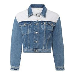 Denim jacket white shoulders