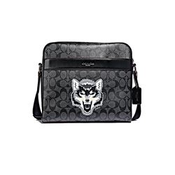 Coach Men's Charles Camera Bag with Wolf Motif