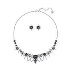 Swarovski Fantastic grey crystal earrings and necklace set