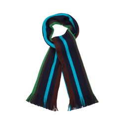 Paul Smith Blue Reverse stripe scarf from Bicester Village
