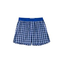 Green and blue checked boxers