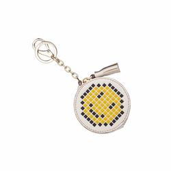 Anya Hindmarch Coin Purse Pixel Smiley in Chalk Capra