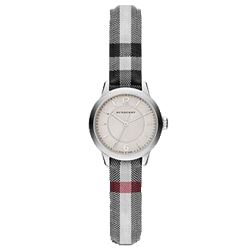 Burberry silver patterned watch