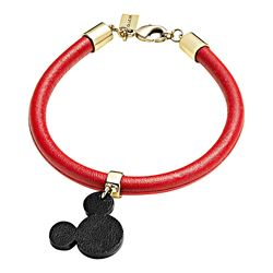 Mickey Ears Leather Charm Bracelet