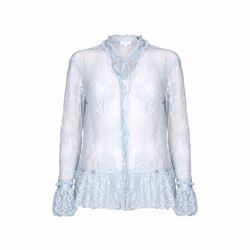 Ghost Fiona blouse in faded blue