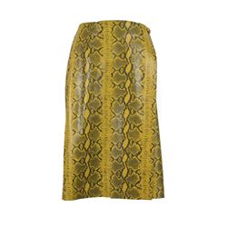 Só Collective Manley yellow Snakeskin skirt