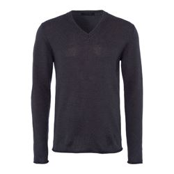Falke grey v-neck jumper