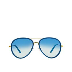 Linda Farrow  Blue aviator from Bicester Village