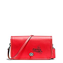 Women's bag 'Mickey Leather Penny Crossbody' in bright red by Coach at Ingolstadt Village