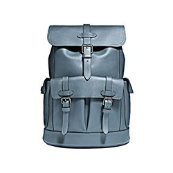 Hudson Backpack in Natural Leather Denim