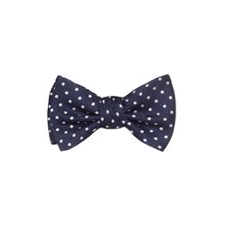 dunhill  Navy polka dot bowtie from Bicester Village