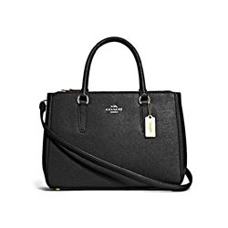 Coach Women's Black Leather Surrey Carryall