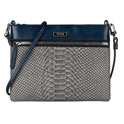 Tumi - Crossbody azul y estampado
