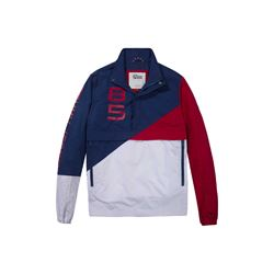 Tommy Hilfiger men's blue depth/ multi block pullover jacket