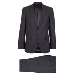 Men's charcoal windowpane check suit