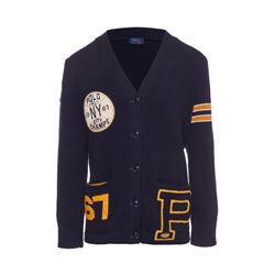 Polo Ralph Lauren Women's Navy Varsity Cardigan