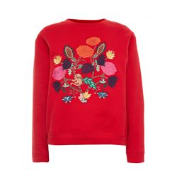 Sandro Red Floral sweatshirt from Bicester Village