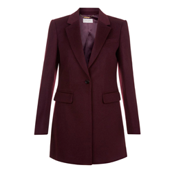 Tia Coat Bordeaux