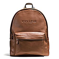 Coach dark saddle backpack